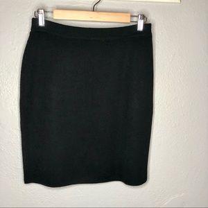Banana Republic Black 100% Merino Wool Skirt